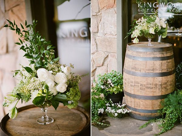 rustic country club rehearsal dinner