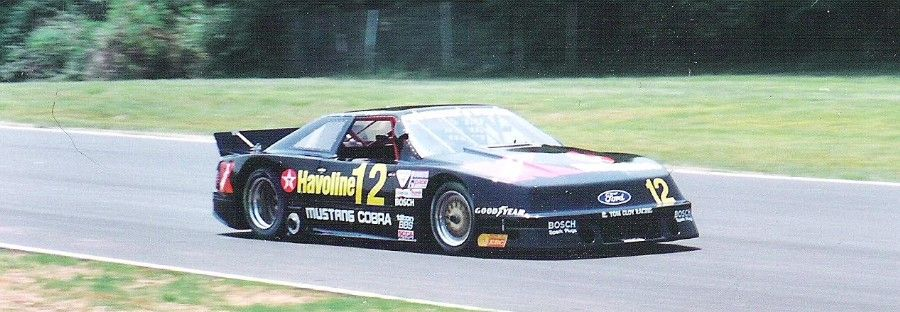 paul newman in the tom gloy havoline 1995 mustang scca trans