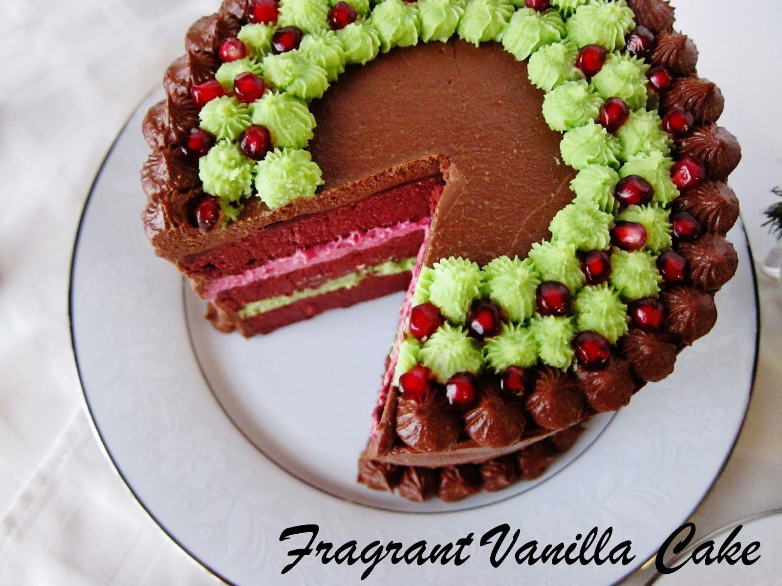 Raw Chocolate Mint Layer Cake from Fragrant Vanilla Cake