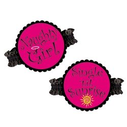 Party Supplies | Bachelorette Party Ideas...Single till sunrise? Slip on one of these Bachelorette Party Garters and party into the night! These saucy garters are perfect accessories for your bachelorette outfit, even if you are the only one who sees them!