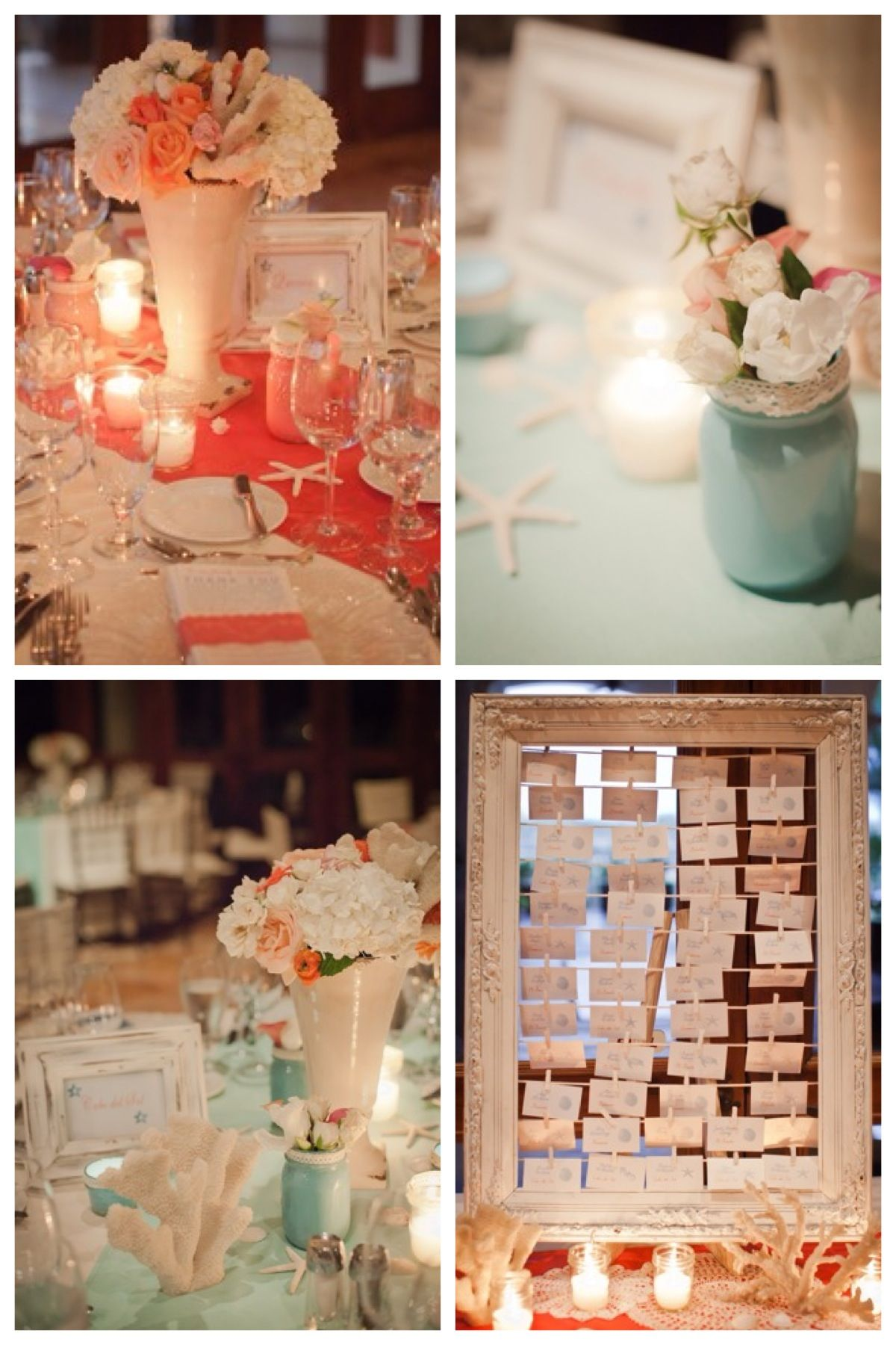 Vintage Beach Decorating Ideas coral & turquoise vintage beach wedding decor these ideas are