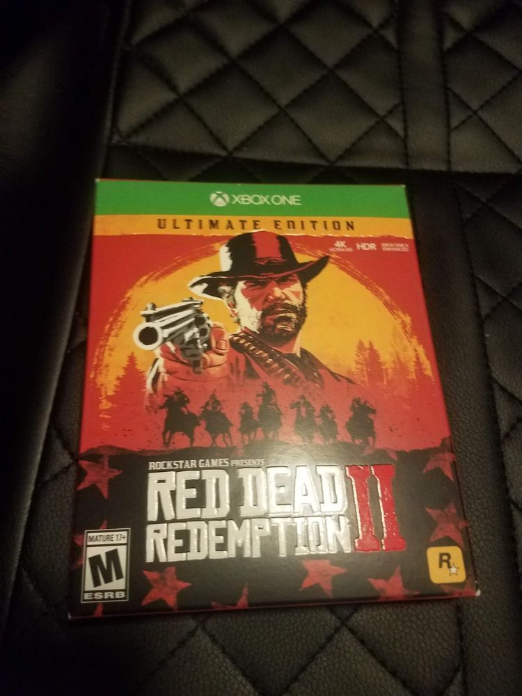 Red Dead Redemption 2 Ultimate Edition Xbox One Physical Steelbook Box Reddeadredemption Gaming Xboxone Red Dead Redemption Game Presents Xbox One