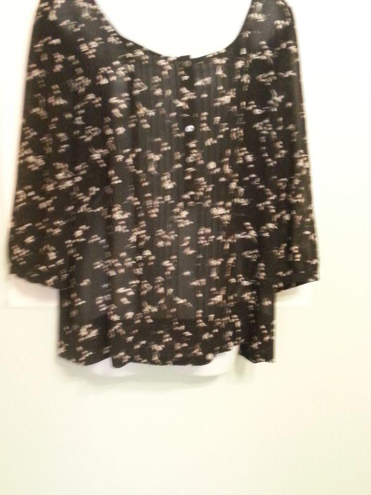 959acb0a34b7f Philosophy Republic Clothing. Lightweight print blouse. Sz. L ...