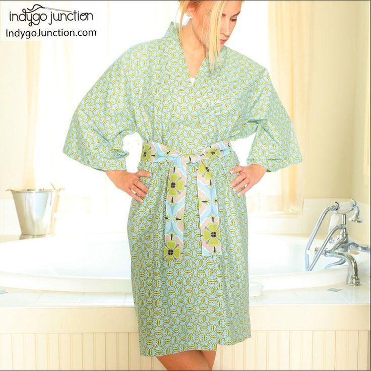 Sew your own dressing gown with this Klassic Kimono robe sewing ...
