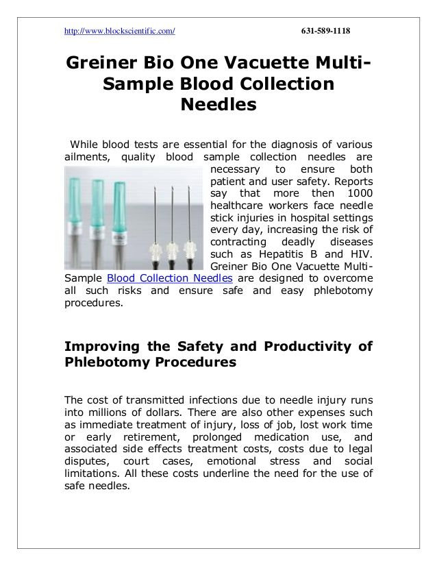 Greiner Bio One Vacuette Multi-Sample Blood Collection Needles - sample urine color chart