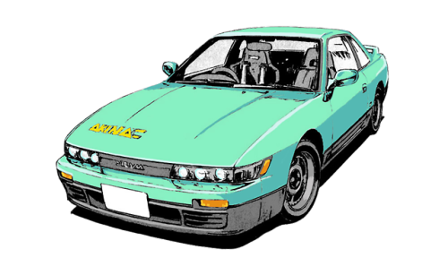 Running In The 80s 90s Initial D Car Drawings Japan Cars
