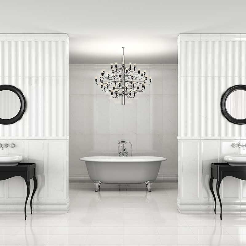 Carrara Ceramic Wall \ Glazed Porcelain Floor by ROCA http - kronleuchter für badezimmer