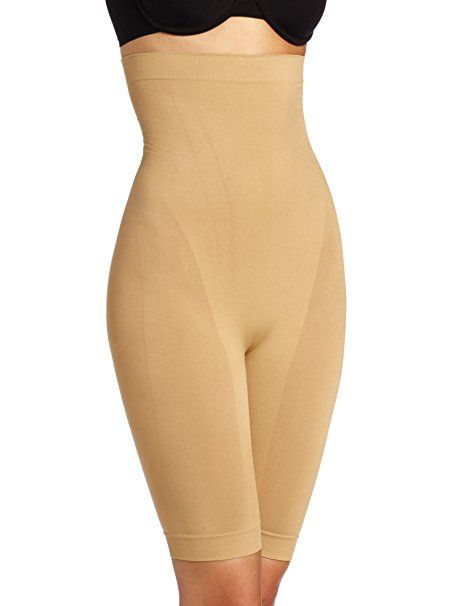 25944d46edd7b Heavenly Shapewear Women s Seamless High-Waisted Slimming Short at Amazon  Women s Clothing store  Thigh Shapewear