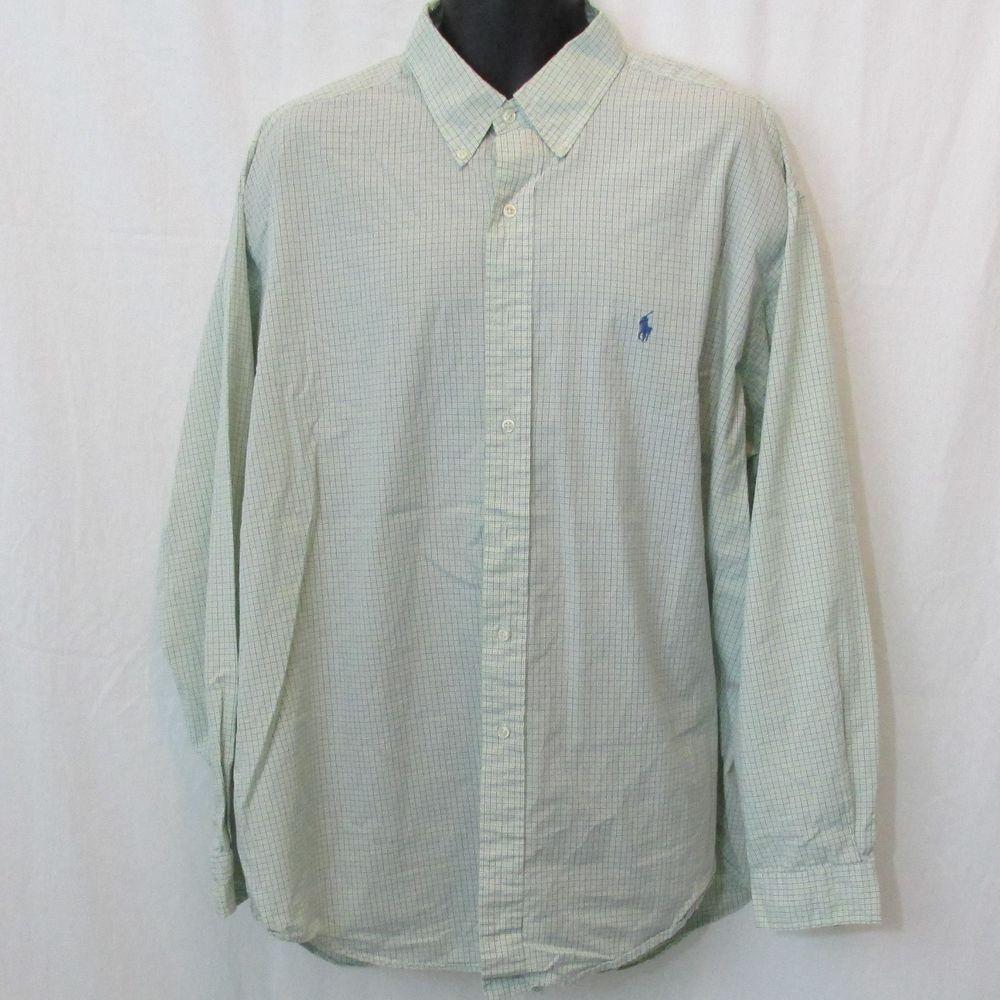 Green checkered dress shirt  Ralph Lauren Mint Green Purple White Menus Checkered Blakeu  Urban