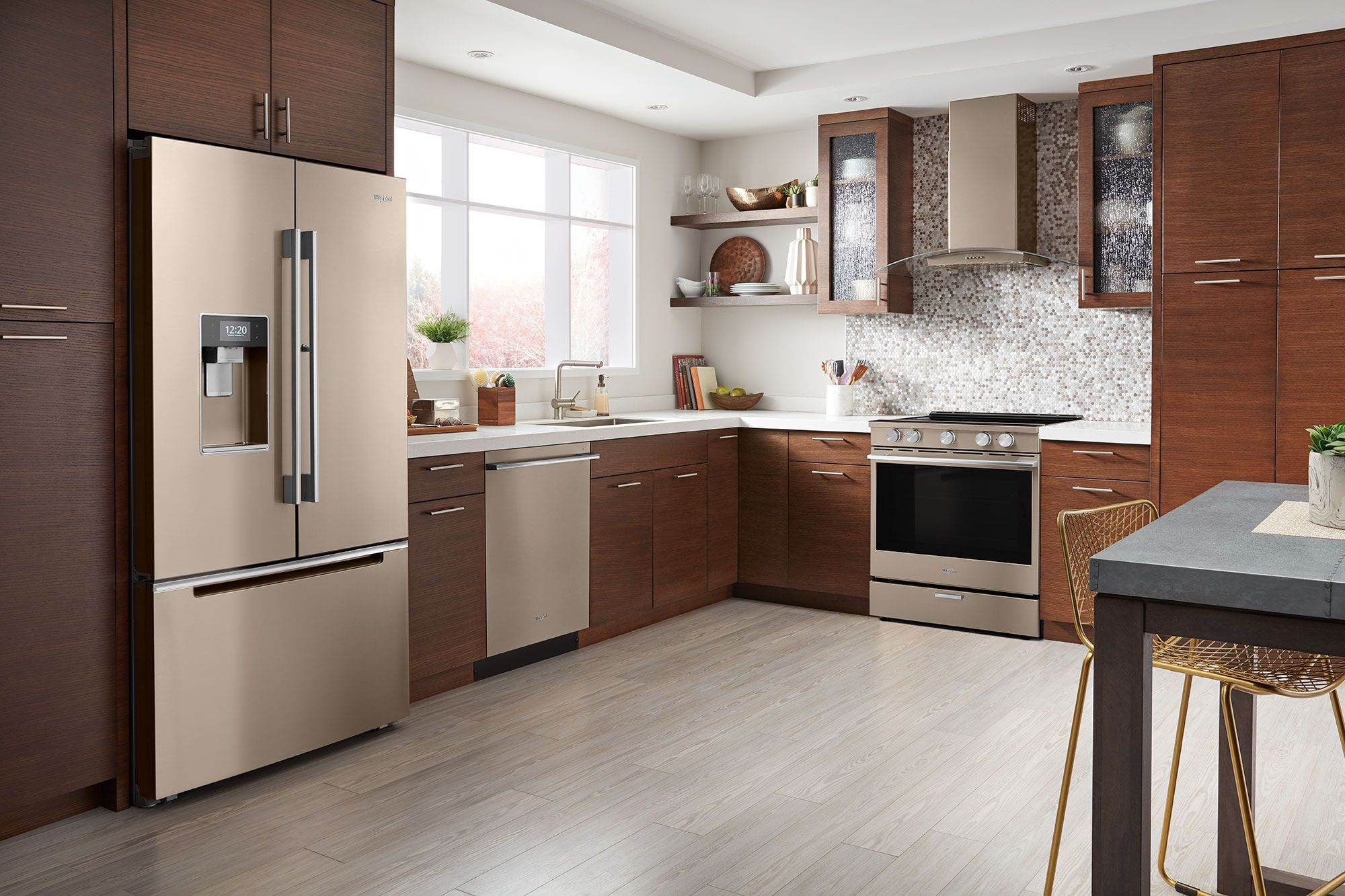 heard of sunset bronze whirlpool brings a new hue to your kitchen with this fingerprint on kitchen remodel ideas id=91090