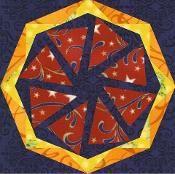 Kaleidoscope Wheel   paper pieced - via @Craftsy