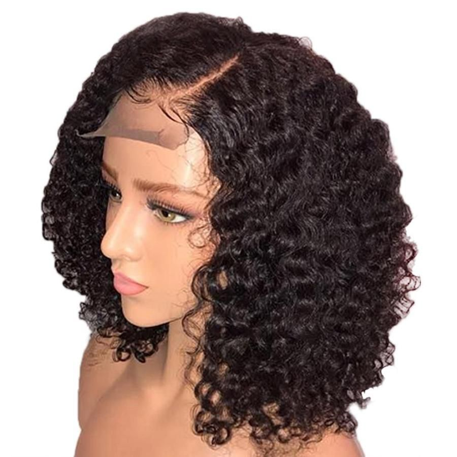 Full Lace Front Wig Human Hair Blend Bob