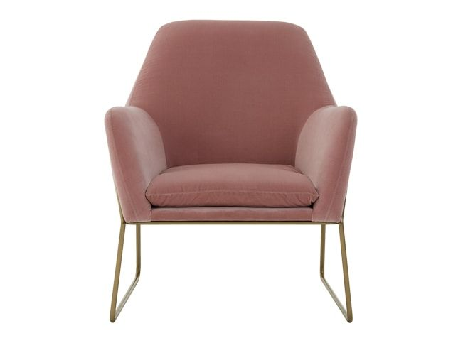Frame fauteuil velours rose blush