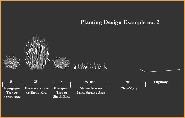 A diagram showing a second alternative for planting a living snow a diagram showing a second alternative for planting a living snow fence publicscrutiny Image collections