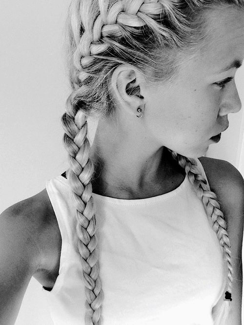French braids tumblr google search hairstyles pinterest two french braids ccuart Image collections