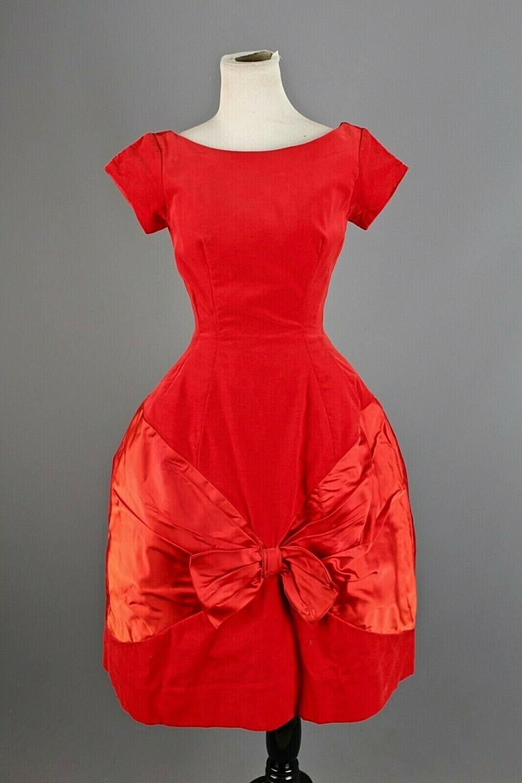 Vtg Women S 50s Kay Selig Red Velvet Party Cocktail Dress Sz Xs 1950s Formal Ebay Cocktail Dress Party Classic Red Dress Red Velvet Dress [ 1500 x 1000 Pixel ]