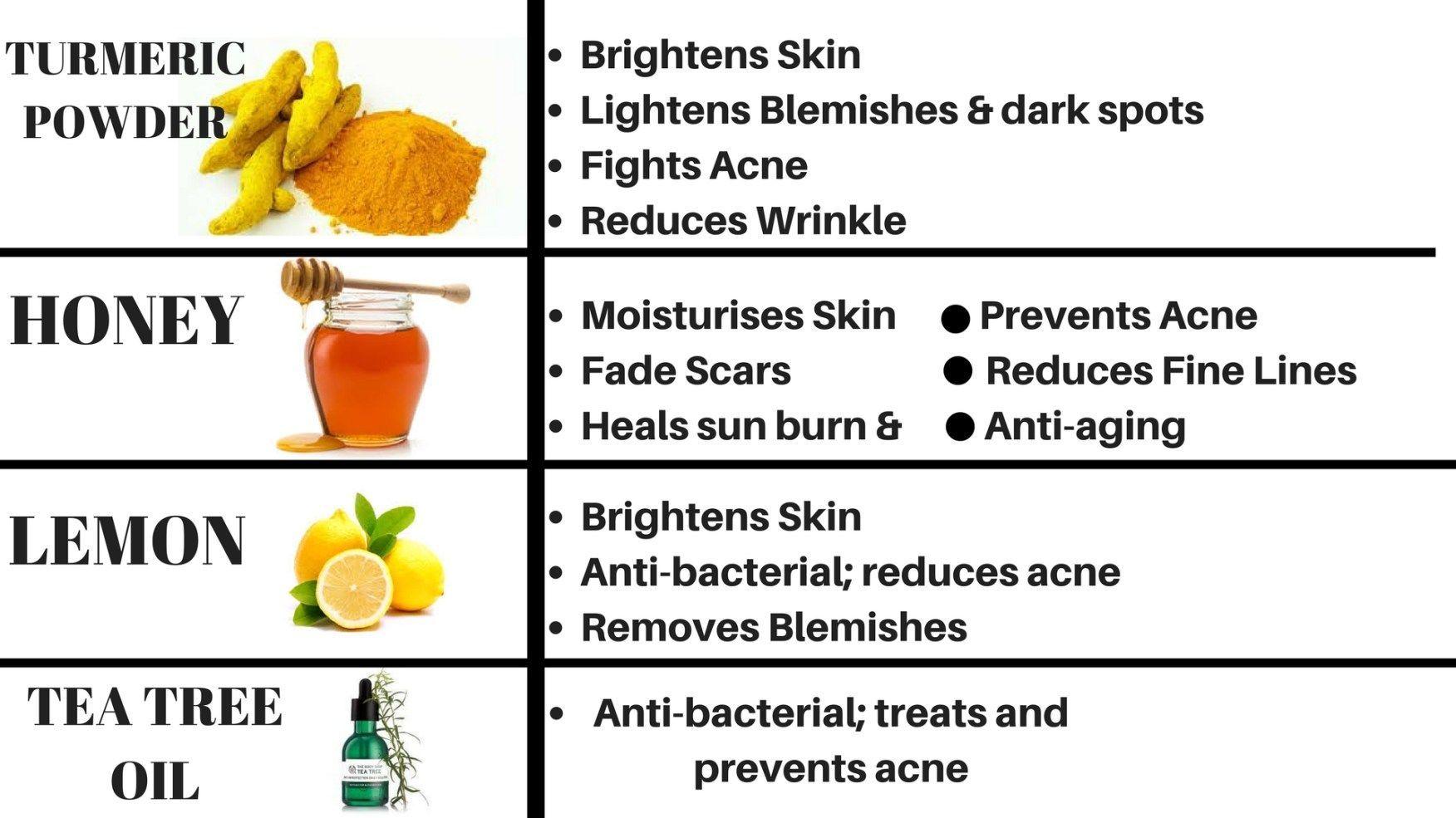 Homemade skin care for dark spots