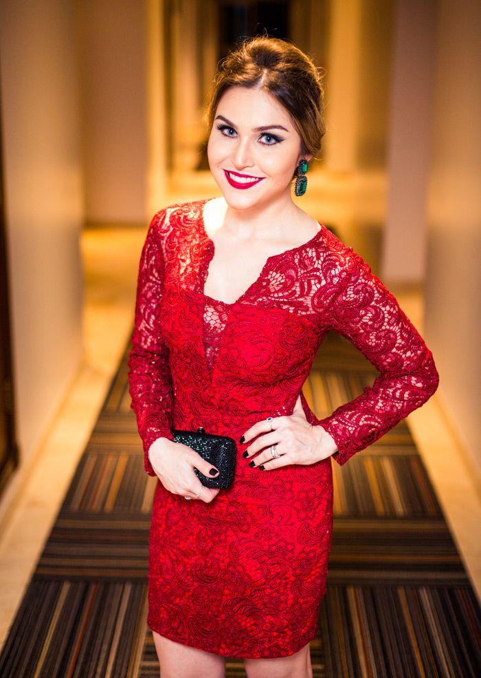 Look Da Lu Vermelho No Thassiasbday Vestidos De Baile