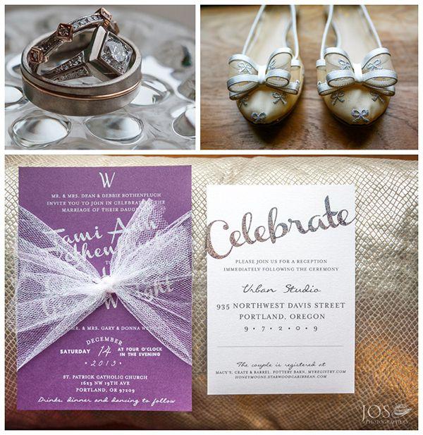 Winter Wedding Invitation Design - The City Hippy Studio