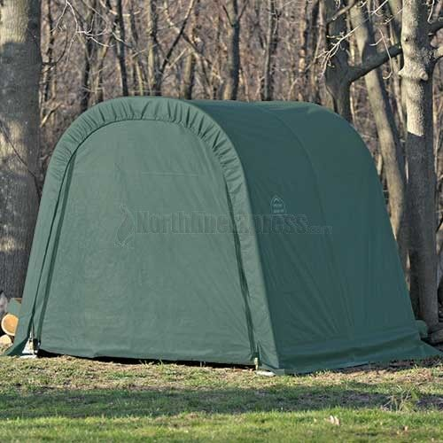 ShelterLogic 10u0027 X 8u0027 X 8u0027 RoundTop Green Storage Shelter   Store Every