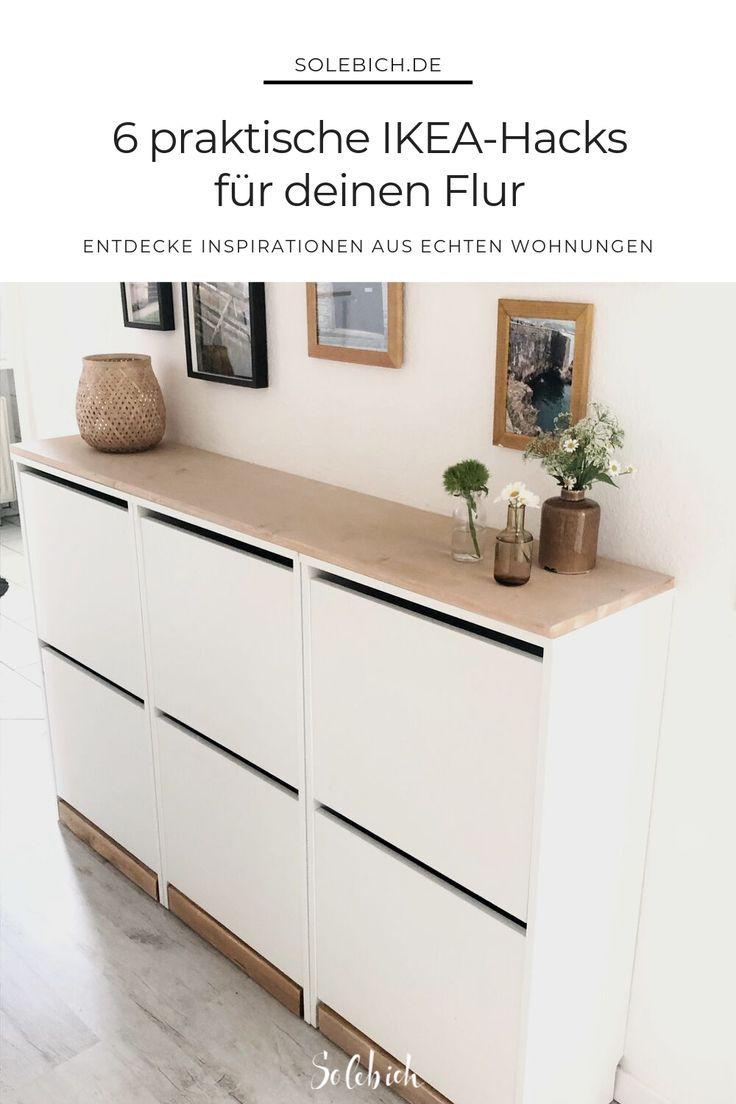 Schuhschrank aus Ikea Küchenschränke Method einfach umfunktioniert und mit Holz Arbeitsplatte ver… #