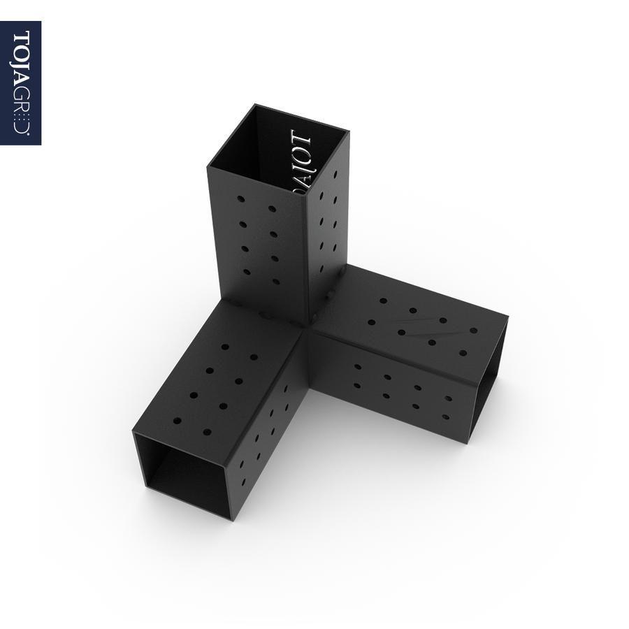 Trio 3 Arm Pergola Corner Bracket For 4x4 Wood Posts 2 Pack In 2020 Pergola Wood Post Pergola With Roof