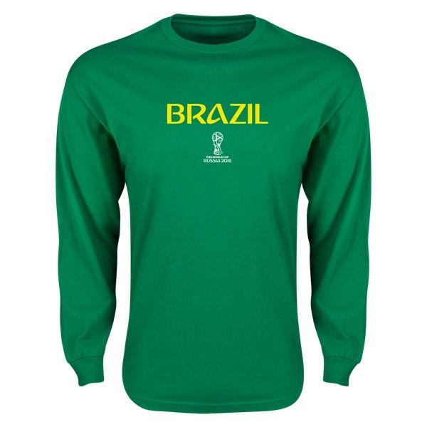 Fútbol · Brasil · Camisetas · Tazas · Brazil 2018 FIFA World Cup Russia™ LS  T-Shirt (Green) 62bdbdd7c5dbe