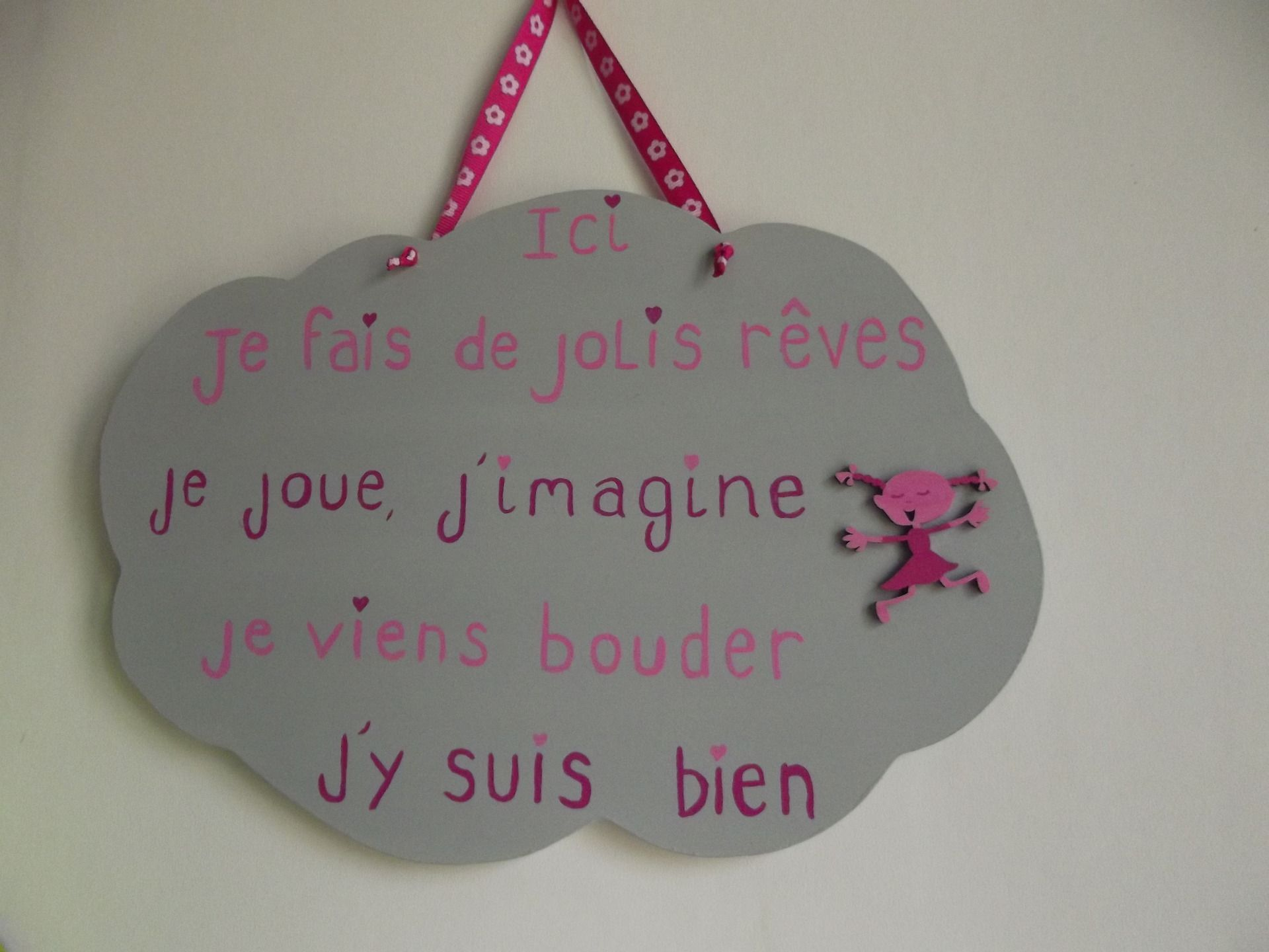 Plaque de porte et son message pour chambre d 39 enfant d corations murales par ptitecrea b b - Plaque de porte chambre enfant ...