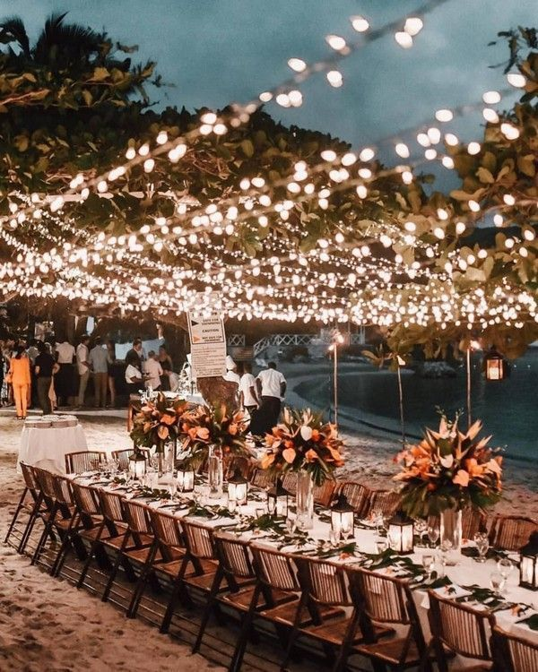 Photo of 34 Chic and Romantic Wedding lightings Ideas