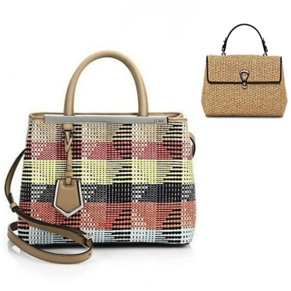 Sraw bags for your summer: colourful by Fendi or essential by Ermanno Scervino?