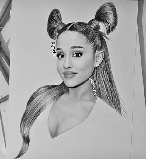 Pepewhat Drawing Ariana Grande Drawings Celebrity Drawings Ariana Grande