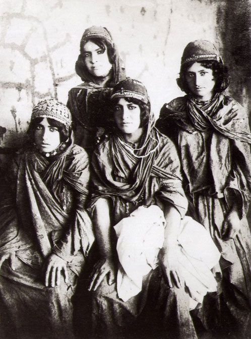 Kurdish Girls. One of Antoin Sevruguin's historical Iran photographs.