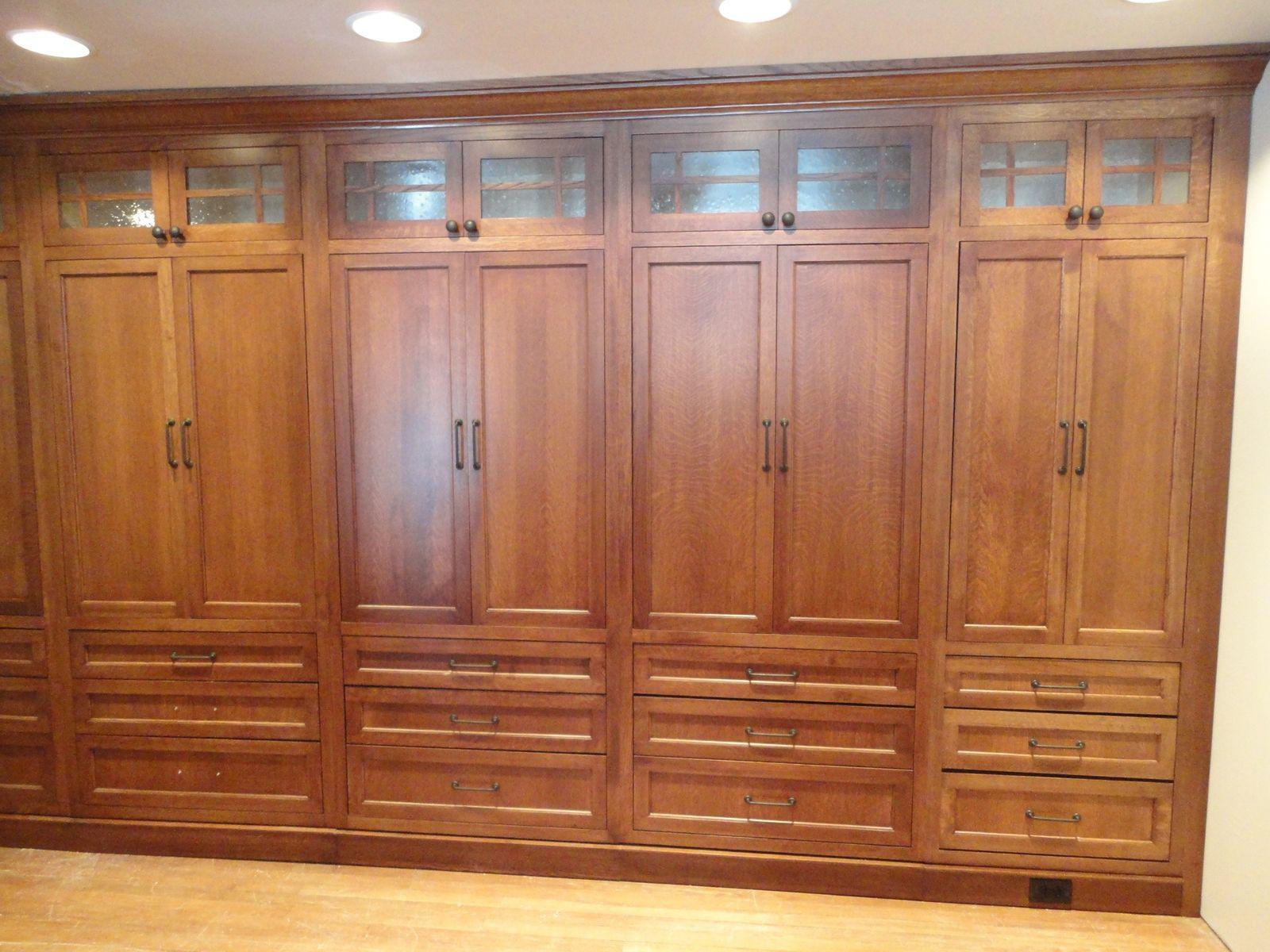 Classy Handmade Oak Built In Wardrobe Closet Unstained With 8 Door Cabinet  Also Hidden Drawer Storage. Classy Handmade Oak Built In Wardrobe Closet Unstained With 8 Door