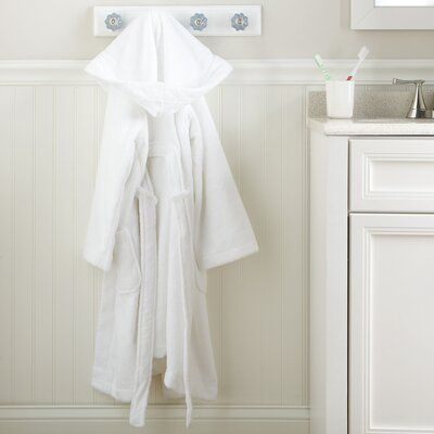 Harriet Bee Woven with 100% cotton, this cozy bathrobe keeps them warm and dry after bath time (but before you're ready to tackle PJs or clothes for the day). Size: Large, Letter: N