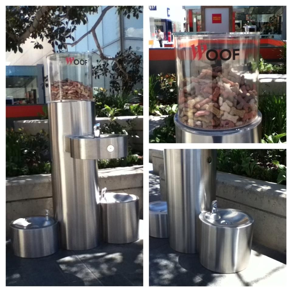 R U Serious - Doggy Drinking Fountain and free treats at Westfield Century City, California