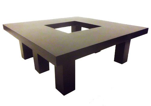 This Designer Coffee Table Measures 40 Inches Square And 14 Inches