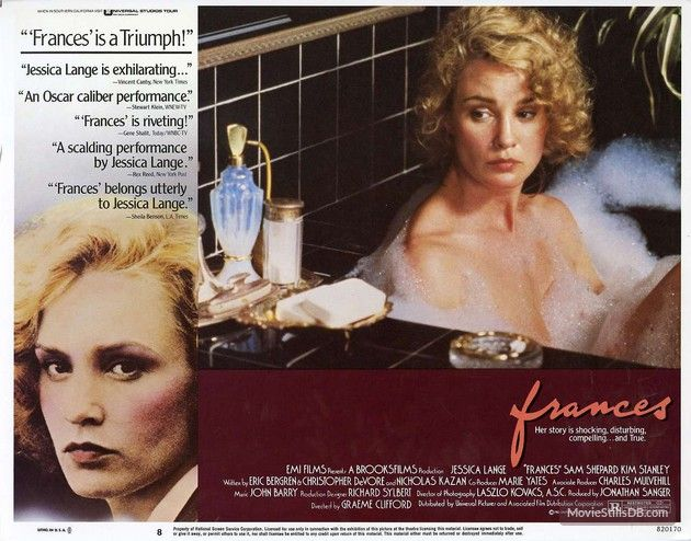 Frances lobby card with Jessica Lange
