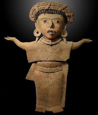Pre Columbian Veracruz Standing Priestess Terracotta Ceramic Tar CA 5th 7th C   eBay
