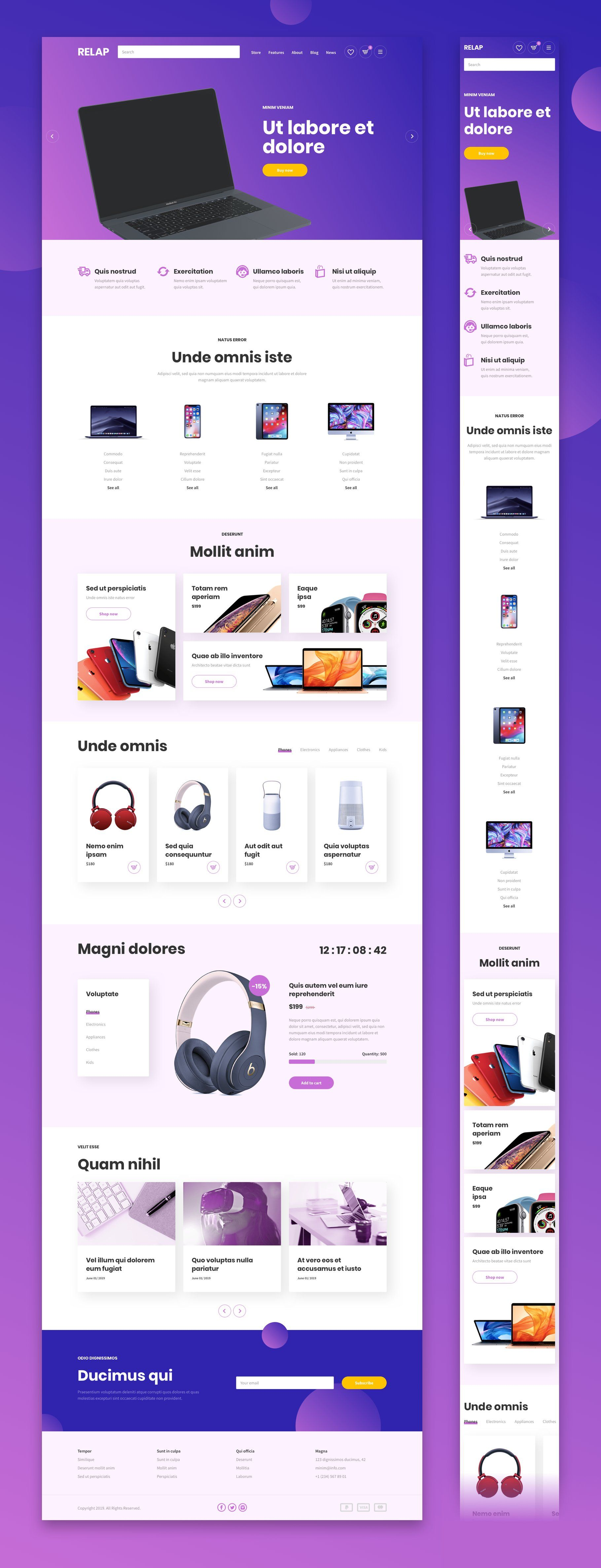 RELAP – Responsive Landing Pages by laaqiq on @creativemarket
