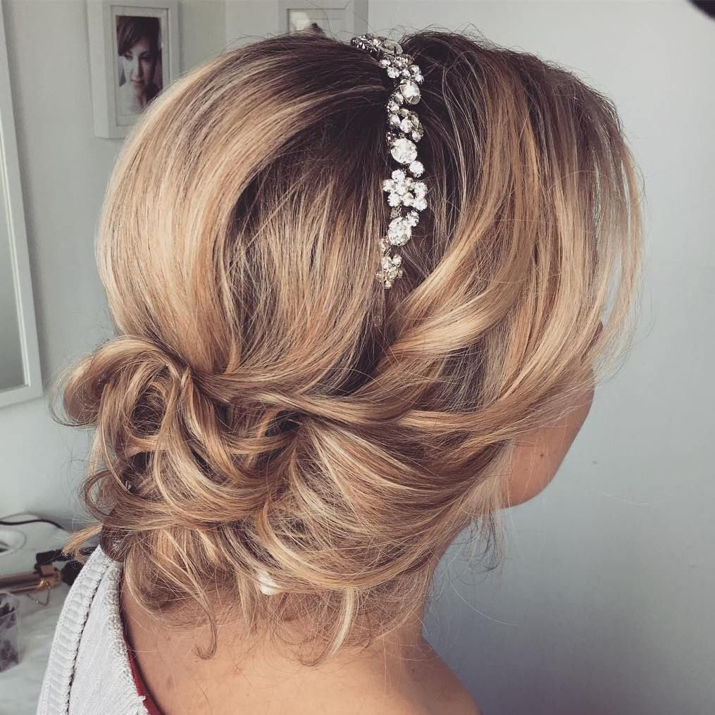 Top wedding hairstyles for medium hair bridal updo updo and bobs