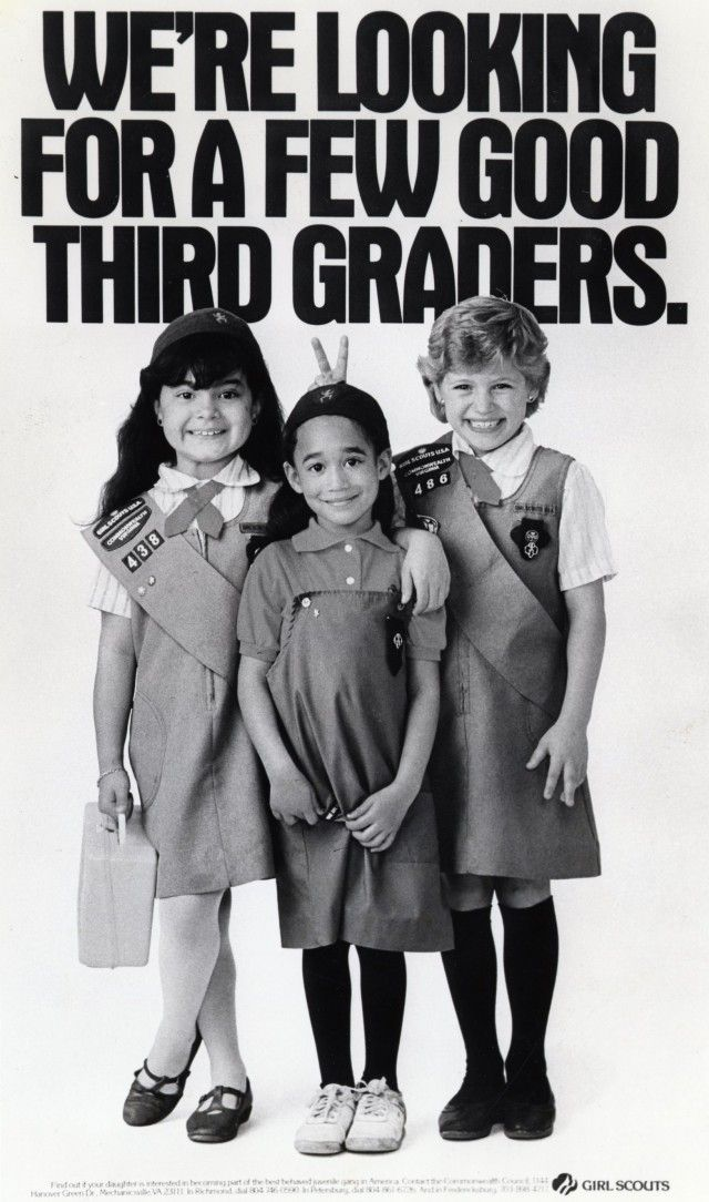 Classic retro vintage girl scouts
