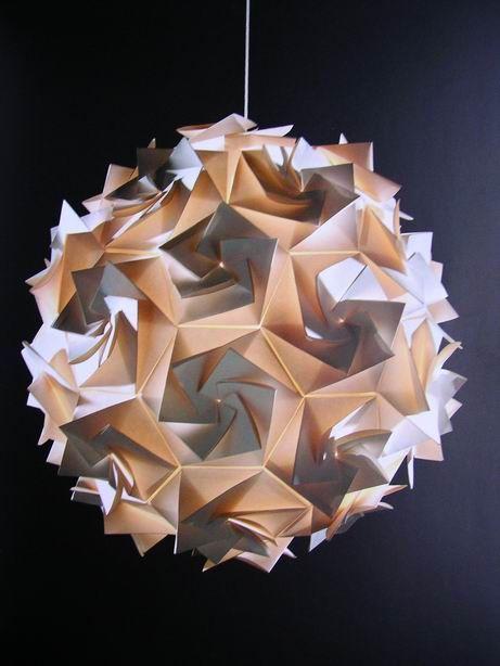 Blog Fabricacin Lmparas Origami Iluminacin Y Formas Pinterest