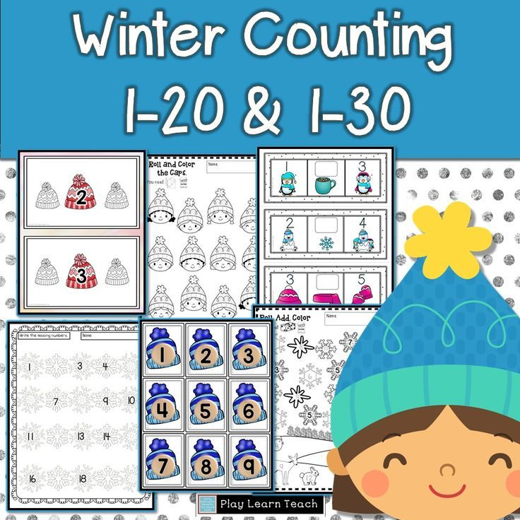 Winter Counting 1-30 | Counting activities, Kindergarten and Count
