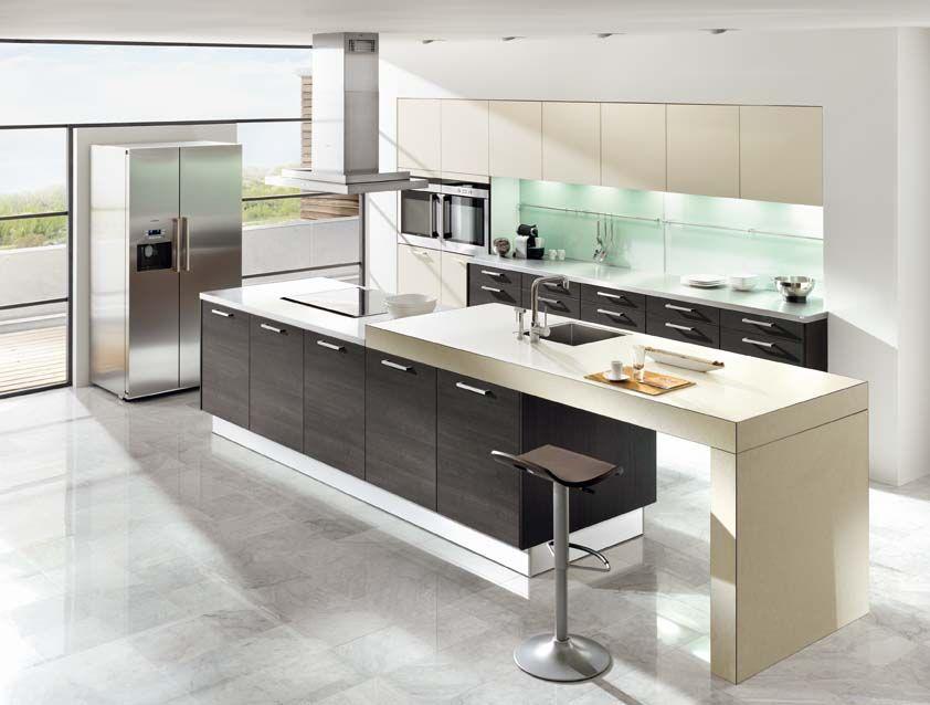 Kitchen In Nuova Panna With Senso Brushed Oak  Ewe  Luxury Amazing Luxury Kitchen Designers Design Decoration