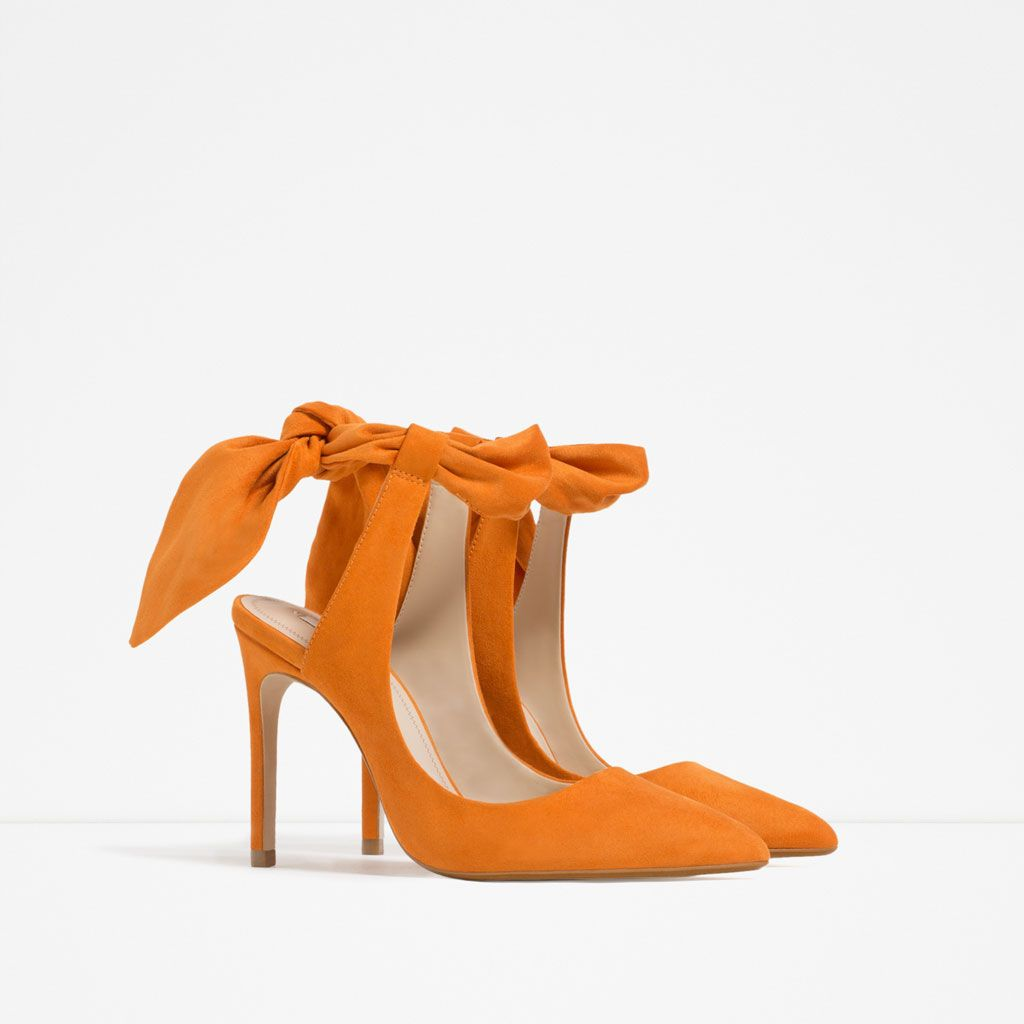 SLINGBACK HIGH HEEL SHOES WITH BOW-View all-SHOES-WOMAN | ZARA United States