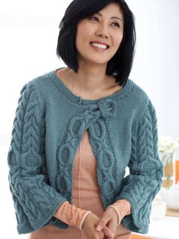 Diagonal Cables Cardigan | Knitting | Pinterest | Sueter de mujer ...
