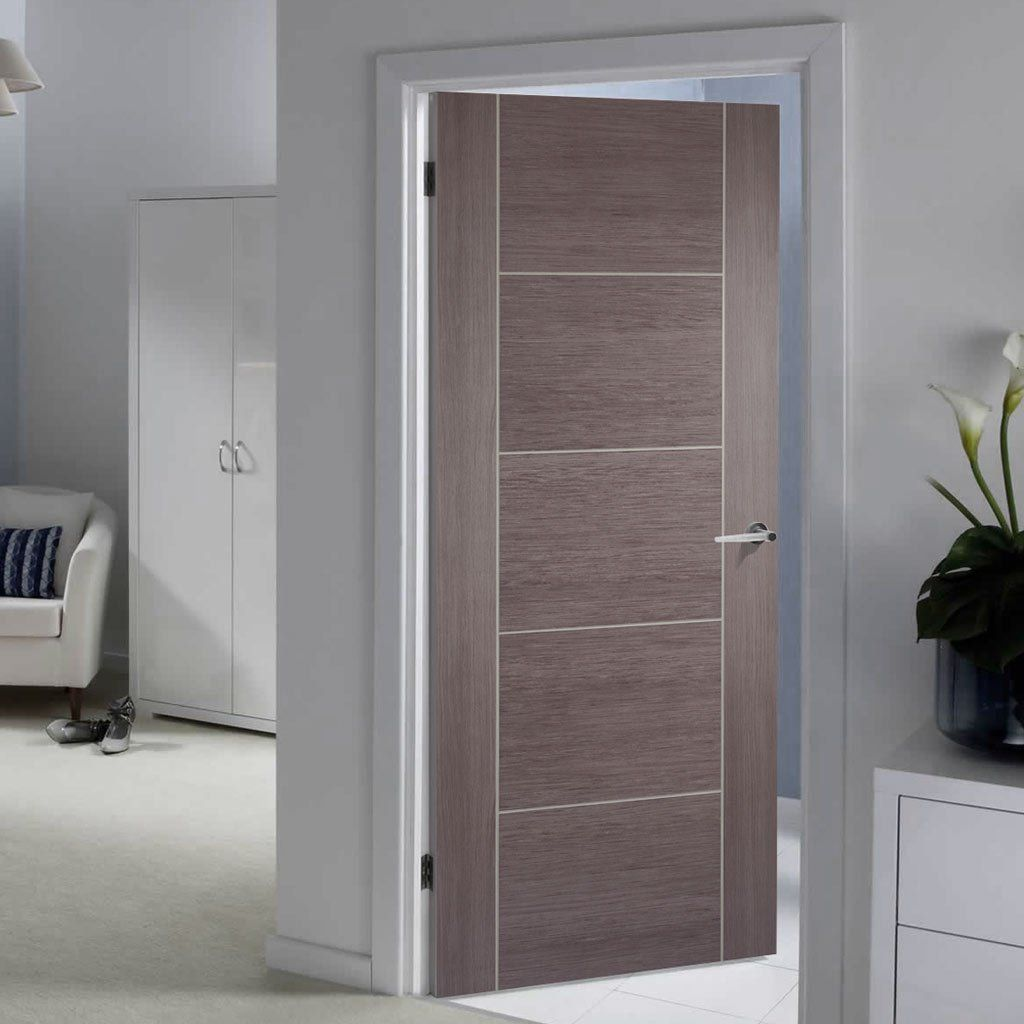 Laminate Vancouver Medium Grey Fire Door 1 2 Hour Fire Rated Prefinished Grey Interior Doors Doors Interior Modern Wood Doors Interior