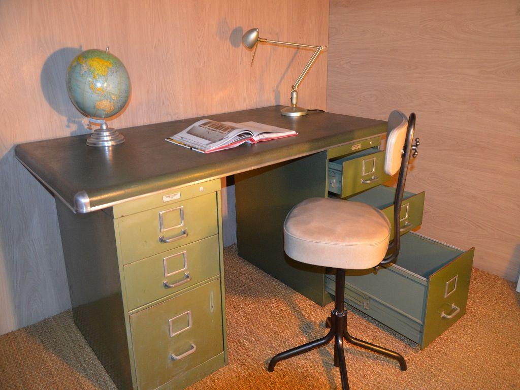 Bureau Metallique Industriel Vintage bureau industriel, bureau métallique, bureau yac, bureau