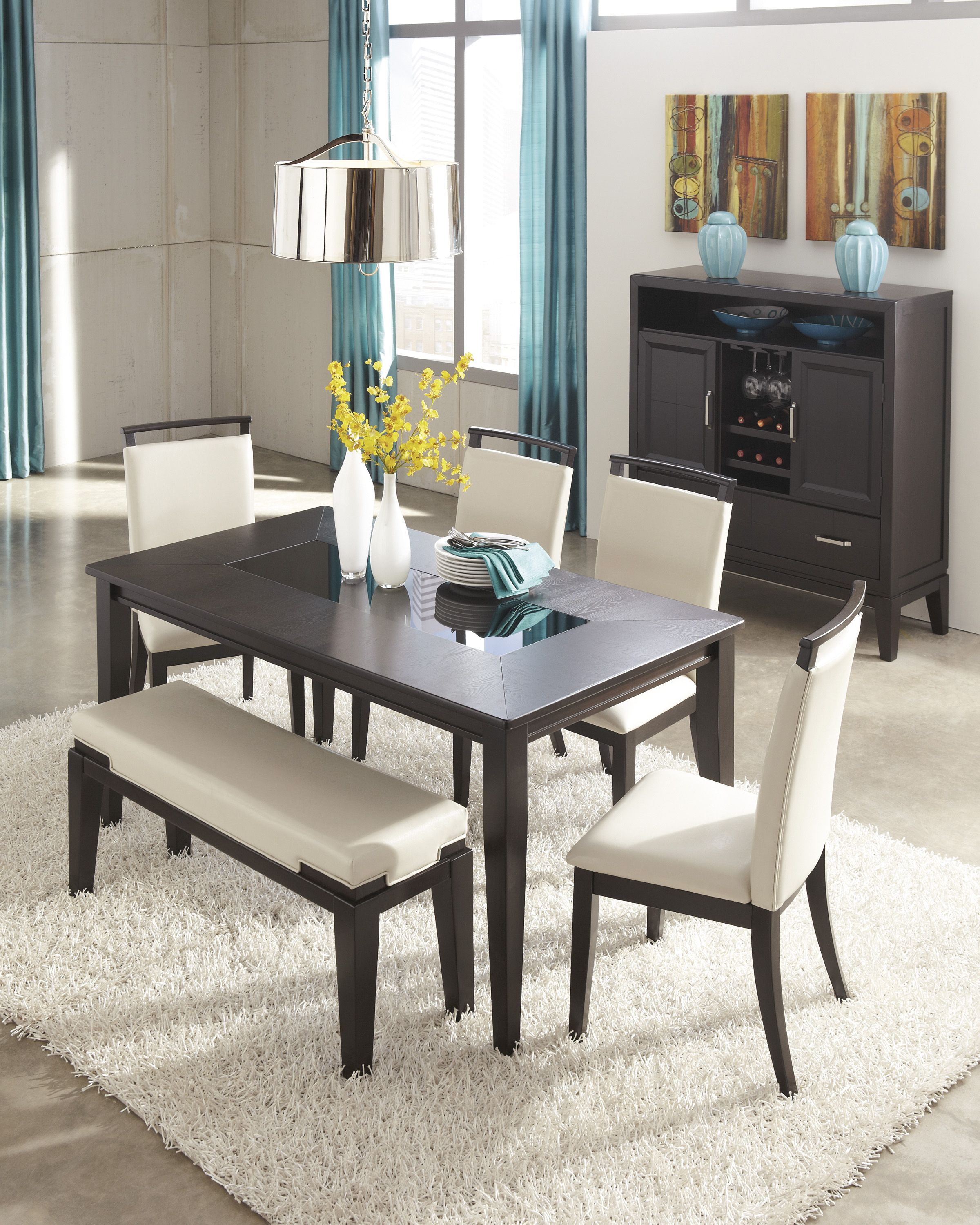Warm Chocolate Browns Creams And Tans For The Dining Room  Theo New Dining Room Sets Ashley Furniture Inspiration Design