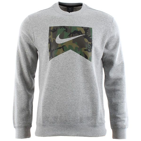 Nike Sb Foundation Camo Crewneck Sweatshirt Dark Grey Heather Camo